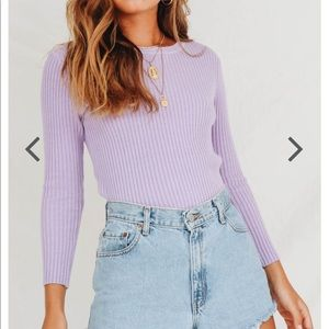 Sweaters - Verge girl purple knit long sleeve